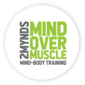 Round mind-over-muscle and mind-body training logo for 2Mynds